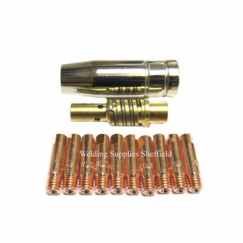New 10 TIPS MB15 MIG NOZZLE SHROUD SIP DRAPER CLARKE ESAB ETC Compatible