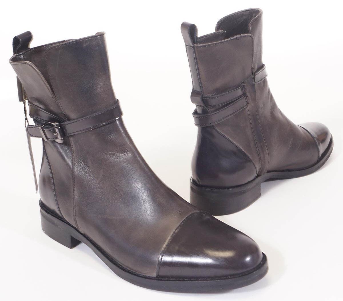 Stelle Monelle para para para mujer Negro gris Cuero Hebilla botas al tobillo Botines 37 6.5 7  Venta en línea de descuento de fábrica