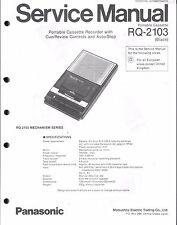 Panasonic Service Manual für RQ-2103