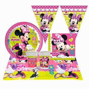 Kit Partido Disney Minnie Para 24 Personas Vasos Platos Paño Servilletas 1393