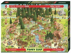 MARINO DEGANO - FUNKY ZOO : BLACK FOREST HABITAT - Heye Puzzle 29638 - 1000 Pcs.