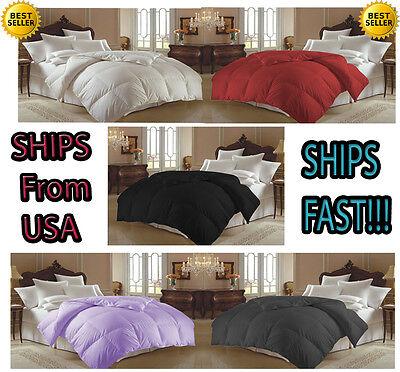 Black Soft Goose Down Alternative Comforter  , Twin , Queen , King Size
