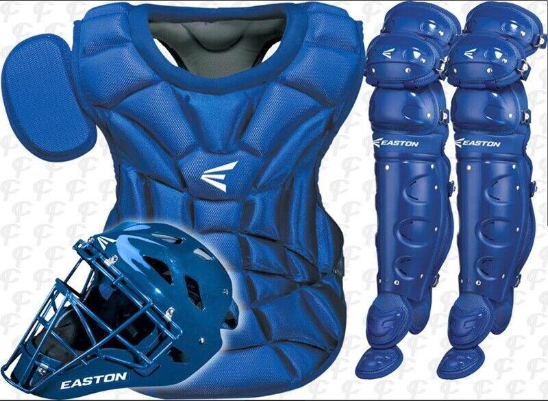 Easton Natural Baseball Catchers 3-piece Set Kit Intermediate. Royal Royal Royal Blau d7f928