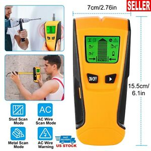 3 in 1 Detector Stud Wood Wall Center Finder Metal AC Live Wire Scanner LCD Scan