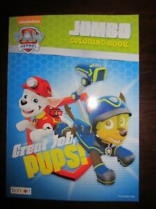 Details About Nickelodeon Paw Patrol Great Job Pups Jumbo Coloring Book