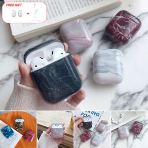 huge selection of fcd85 501aa Details about Luxury Marble Earphones Hard Case For Apple AirPods 2 1  Charger Protective Cover