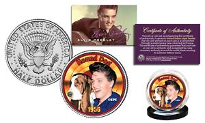 Elvis-Presley-1956-HOUND-DOG-Officially-Licensed-JFK-Kennedy-Half-Dollar-US-Coin