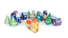 Adventskalender Weihnachtsdorf aus Holz mit 24 Häuschen zum Befüllen NEUWARE