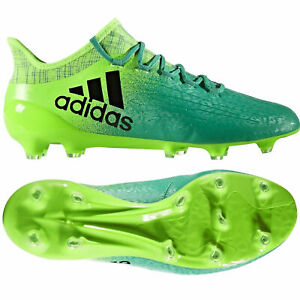 adidas-Boys-X-16-1-FG-Techfit-Firm-Ground-Football-Boots-Moulded-Studs-Green-5