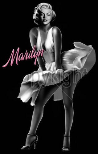 Marilyn Monroe White Dress T-Shirt PLUS SIZE or SUPERSIZE T554F Rhinestone