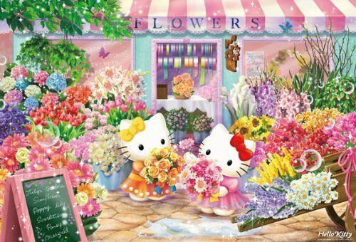 Hello Kitty Jigsaw Puzzle Flower Shop 1000 Pieces