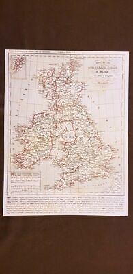 Cartina Geografica Inghilterra E Scozia.Regno D Inghilterra Scozia E Irlanda Carta Geografica Del 1859 Houze Ebay