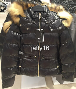 856959dac Details about ZARA NEW WOMAN SHINY DOWN PUFFER JACKET HOOD FAUX FUR TRIM  BLACK XS-XL 0518/268