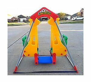 Baby Swing Set Cradle Double Two Seats For Twins Outdoor Indoor Fun