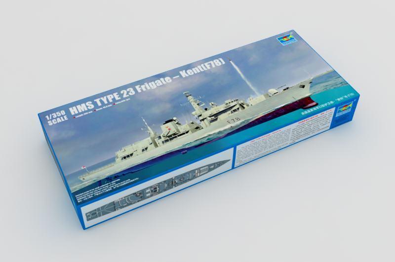 04544 Trumpeter 1 350 Model HMS Type 23 Frigate Kent F78 Destroyer Chaser Kit