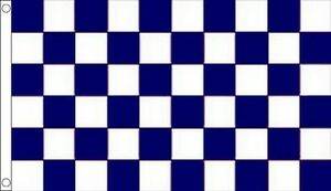 Maroon White Check Chequered Large Flag 5/' x 3/'
