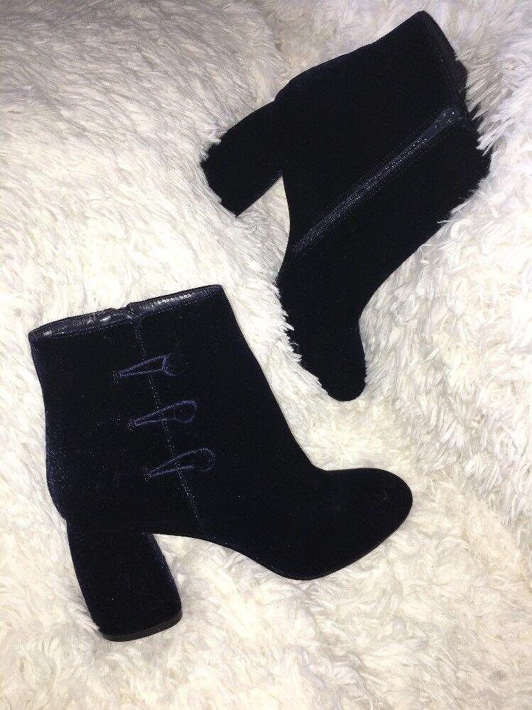 Nine West Blau Khraine, velvet boots booties SZ 10 NEU