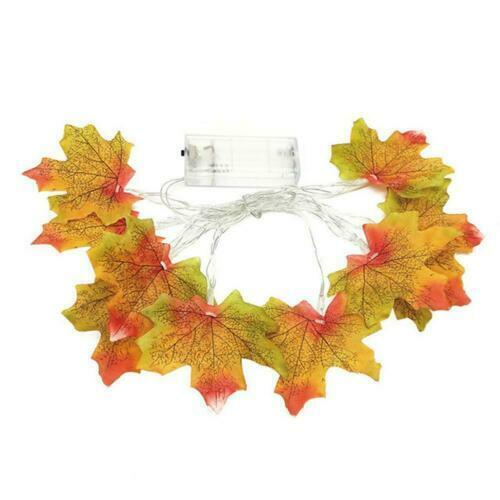Fall Maple Leaves Fairy String Light 10//20//30LED Home Lamp Garland Xmas Decor A+