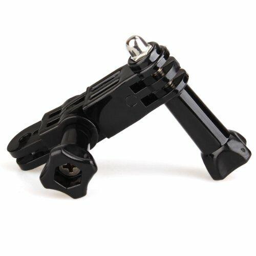Conjunto de tres vías brazo de pivote Adaptador De Extensión Perilla del pulgar para GoPro Hero F6U8