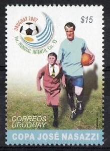 Soccer Football WC 1930 captain Nasazzi entering field Sc#2188 MNH stamp