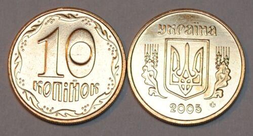 2005 Ukraine 10 Kopiyok Coin BU Very Nice  KM# 1.1b