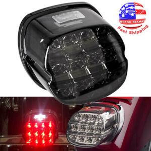 DC 12V ABS Plastic Smoke Lens Motorcycles Fender LED Tail Light Brake Stop Lamp