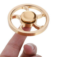 Pocket Mini Gold Alloy Round Wheel Hand Spinner EDC Toy for ADHD Anxiety Autism