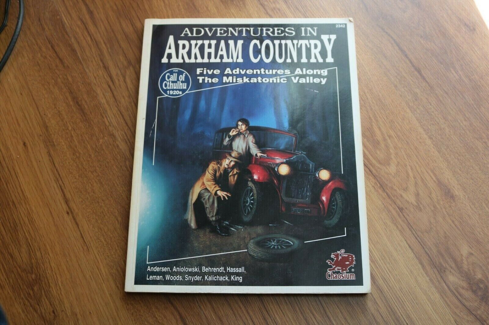 Adventures Arkham Country rpg book Call Cthulhu Chaosium 2342 1993 oop