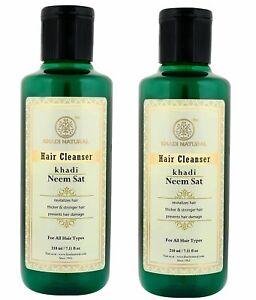 KHADI NATURAL Neem Sat Hair Cleanser (Shampoo), 210ml (Pack of 2)