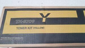 Genuine Kyocera TK8709 Yellow Toner TASKAlfa-6550ci 7550ci Brand New See Pics