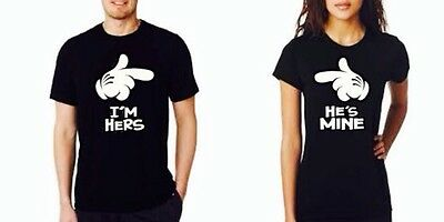 I'm Hers He's Mine Couple Matching Shirts Hes mine shes mine tees Couple Shirts
