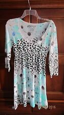 Citi Life Teen girls blue/teal animal and floral print dress size XL