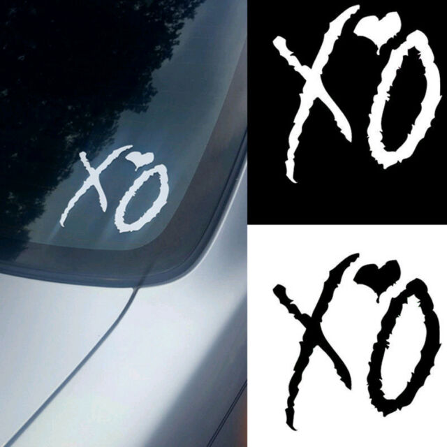 The Weeknd XO PET Sticker Car Truck Window Laptop Macbook Wall Art Decal Decor