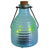 Malibu Lighting Outdoor Solar Powered Glass Firefly Jar Led Lantern Light