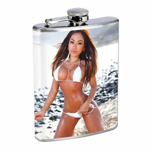 Detroit Pin up Girls D9 Flask 8oz Stainless Steel Hip Drinking Whiskey