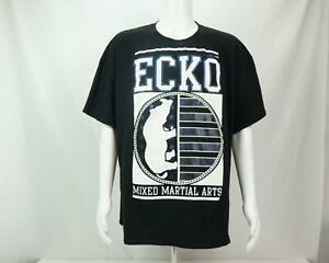 Ecko-Unlimited-Spell-Out-Logo-Mixed-Martial-T-Shirt-Black-Men-039-s-3XL