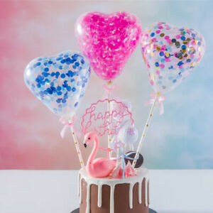 Sequin-Balloon-Cake-Topper-Insert-Latex-Colorful-Birthday-Party-Cake-Decoration