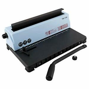 Comb-Coil-Binding-Machine-A4-34-Holes-Paper-Puncher-Book-120-Sheet-Office-CA