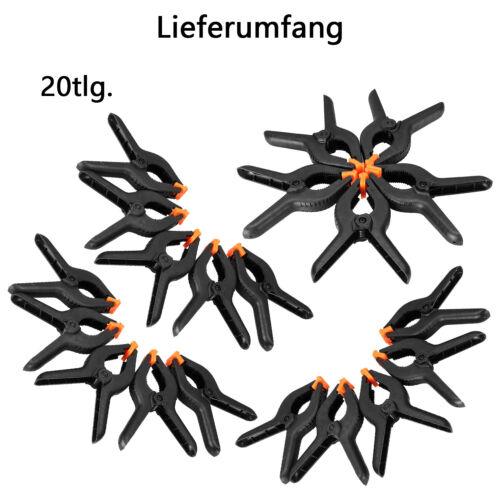 20-tlg Federzwingen Klemmzwingen Leimzwingen 160mm Spann Feder Zwinge Klemme SET