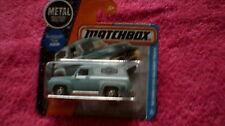 Matchbox (UK Card) - 2017 - #17 '55 Ford F-100 Delivery Truck - Matt Light Blue