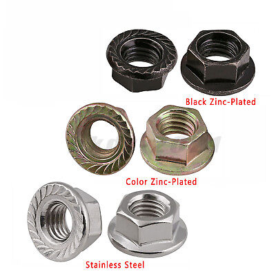 Serrated Flange Nuts ZINC Plated M5 5mm Pack of 20