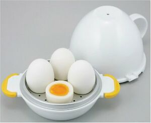 Container boiled eggs to make in the microwave 4 piece From Japan