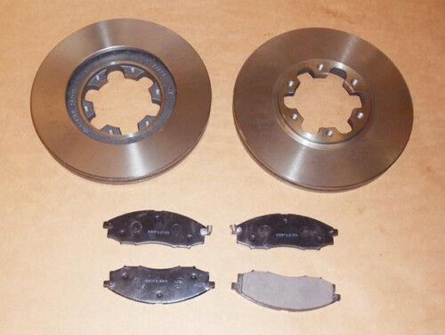 Front Brake Discs+Brake Pad Set For Navara D22 Pick Up 2.5TD//2.5Di 11//2001-2006