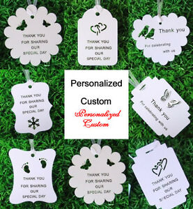 Free Personalized Custom Thank You Cards Gift Tags Wish Tree Tag