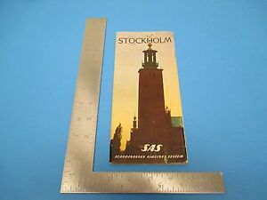International Travel Brochure Scandinavian Airline System Stockholm Sweden S902
