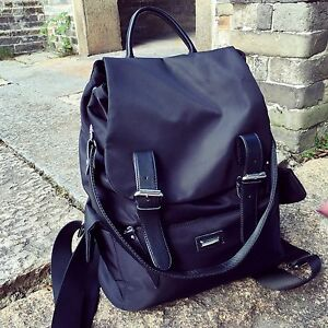 Water-Resistant-Convertible-Nylon-Backpack-Rucksack-Purse-Daypack-Shoulder-Bag