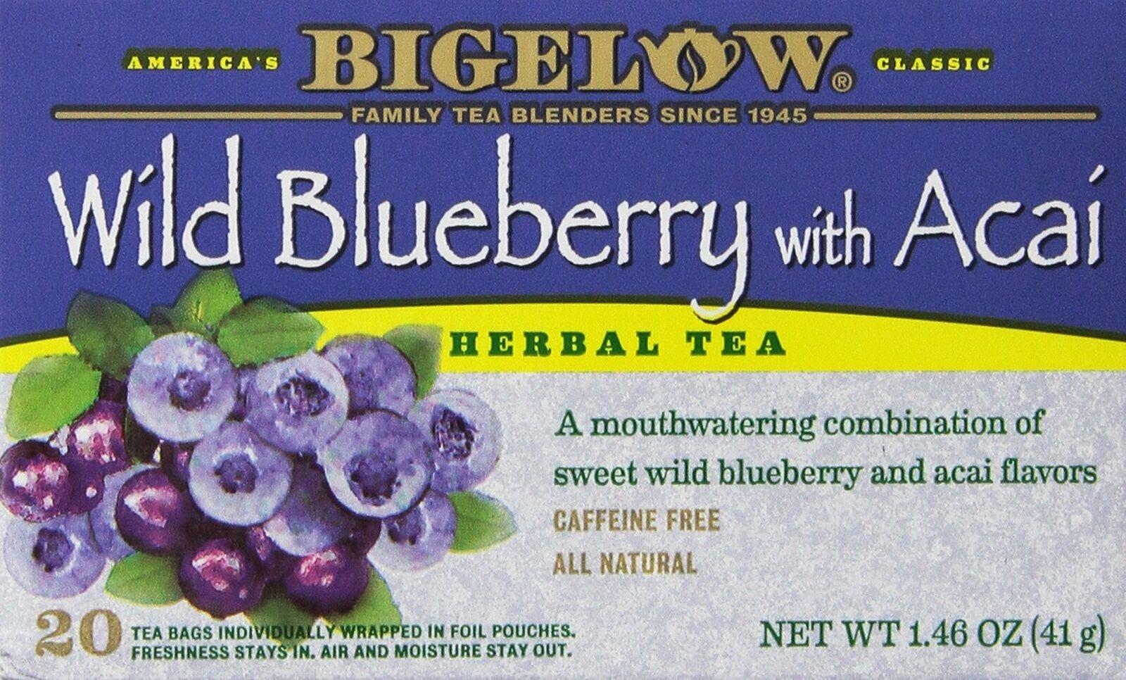 Bigelow Herbal Tea Wild Blueberry With Acai 20 CT