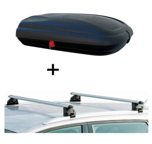 Coffre de toit ba320 carbonlook rambarde porteur crv107a pour OPEL ZAFIRA TOURER 5tür ab11