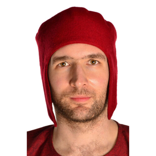 Mittelalter Ohren-Kappe Herren aus WollfilzHEMAD Gewandung LARP Kopfbedeckung