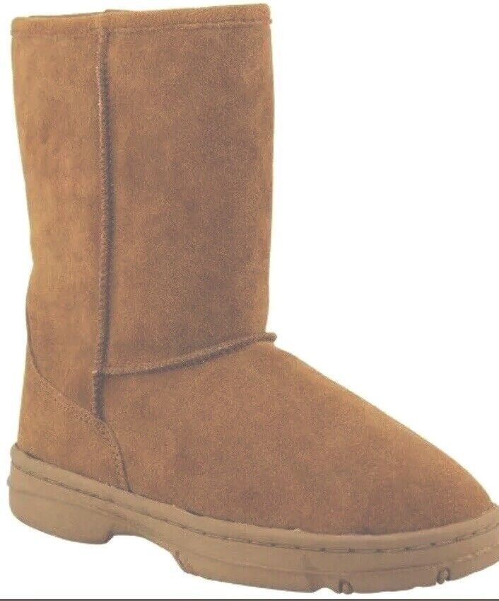 LAMO Chestnut Brown Shearling Pull on Boots Size 7
